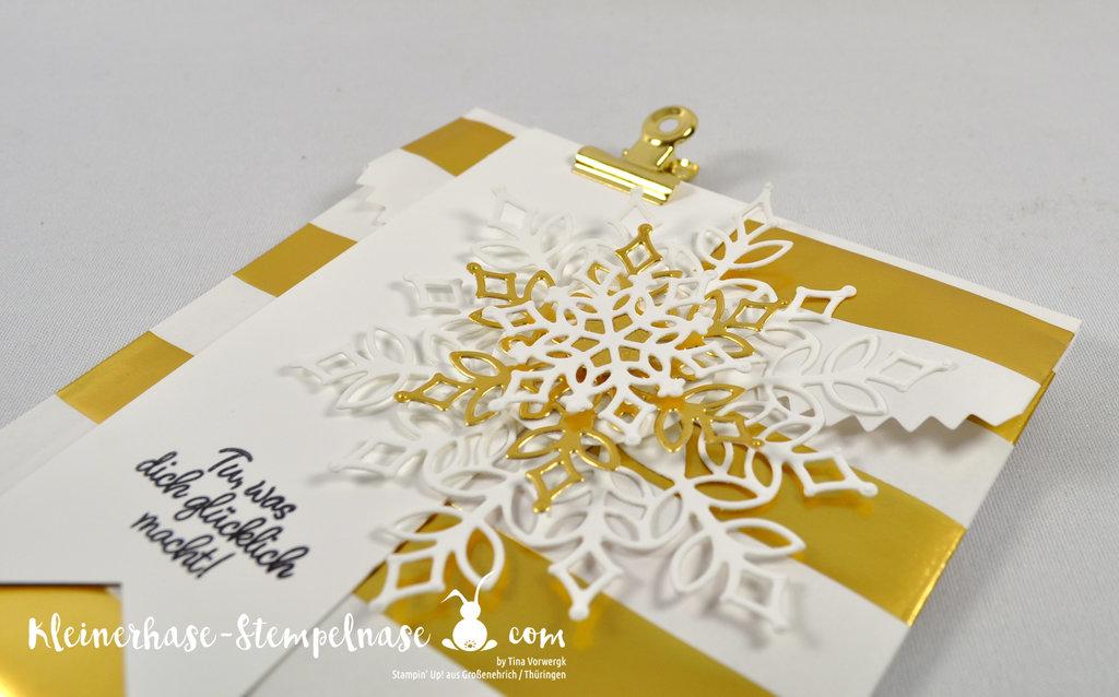 Stampin Up Thüringen Flockengestöber Schneeflocken Weihnachten Teamgeschenk Onstage