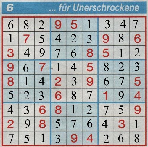 Milka 0450: Sudoku>>>GELÖST VON DADDY 34357069yk
