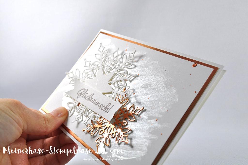 Stampin Up Thüringen Flockengestöber Schneeflocken Weihnachten