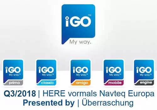 Q4/2018 | iGO 8 - iGO Primo - Becker | HERE vormals Navteq Europa