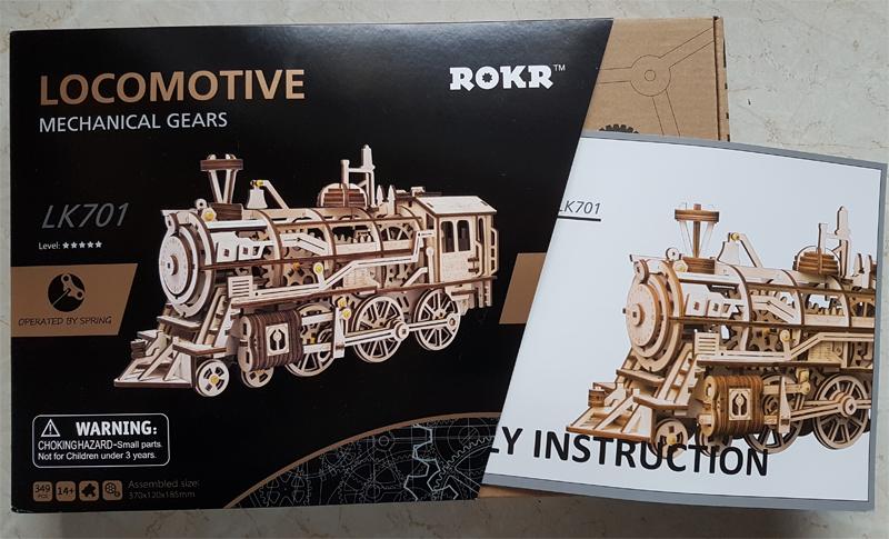 3D-Lokomotivbausatz von ROKR 34989451lv
