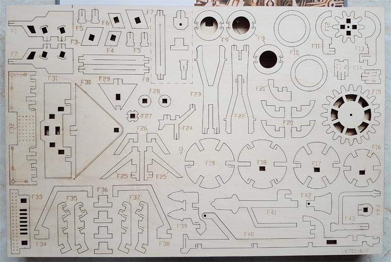3D-Lokomotivbausatz von ROKR 34989456pr