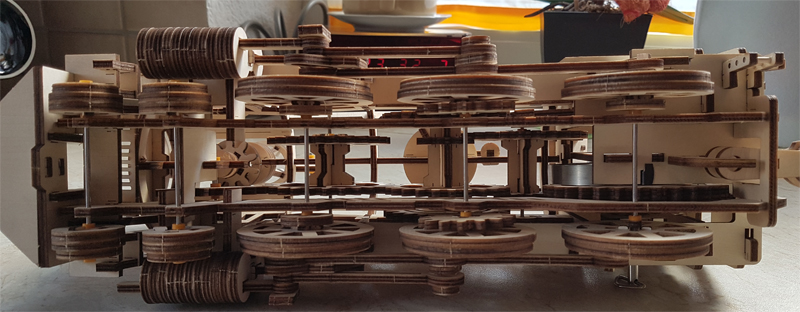 3D-Lokomotivbausatz von ROKR 34989473rr