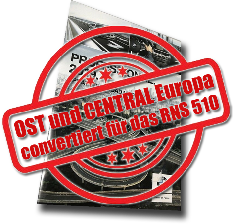 RNS 510 Ost und CENTRAL 2019 | Convertierte BMW DVD Road Map