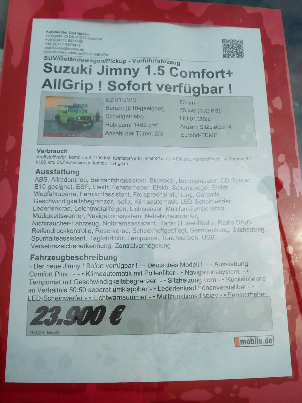 suche einen suzuki jimny gj comfort farbe kinetic. Black Bedroom Furniture Sets. Home Design Ideas