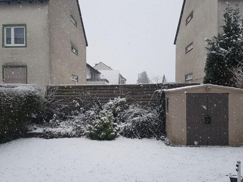 Schnee in Bindlach
