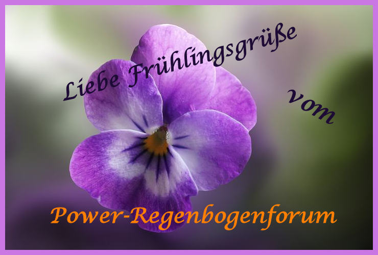 Liebe Frühlingsgrüße vom Power-Regenbogen 35350752mo