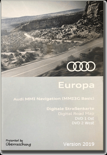 2019 | AUDI Navigation MMI 3G Basic Europe (East/West) 2019