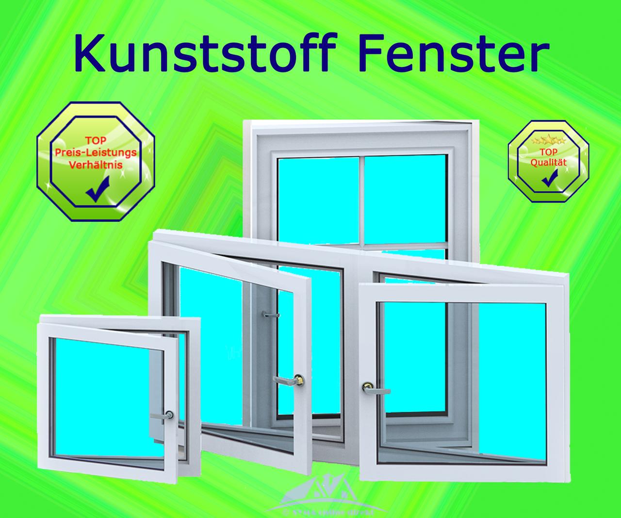 Kunststofffenster Fenster Aluplast 70mm Bautiefe Weiß Breite bis 90cm 1 Fl.