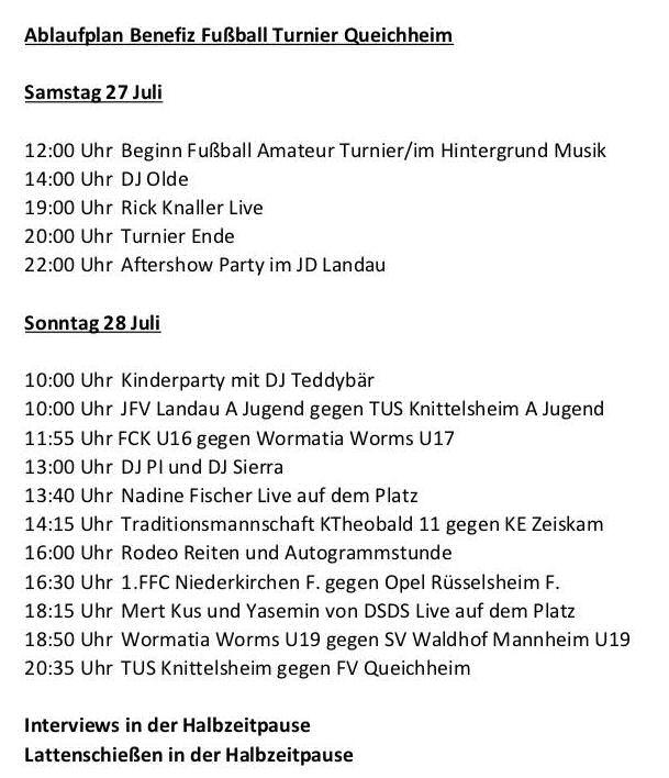 Queichheim Programm