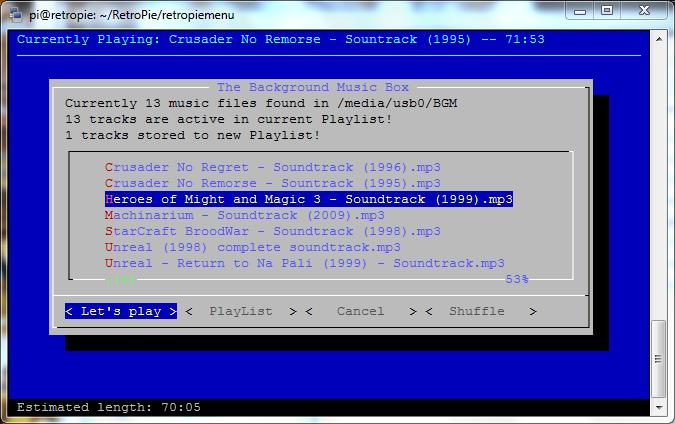 Opendev The Background Music Box Retropie Forum