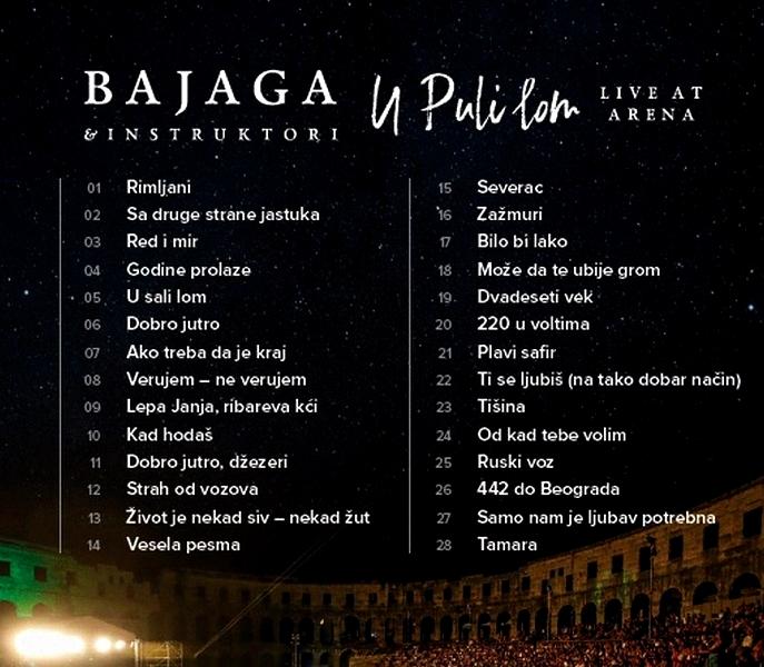 Bajaga & Instruktori - 2019 - U Puli lom (live Arena) 36959209hk