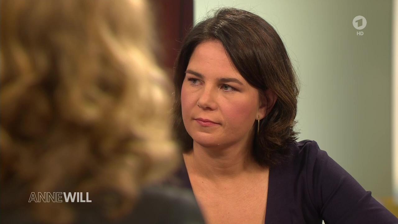 Annalena Baerbock zu Gast bei Anne Will im Ersten am 22.09 ...