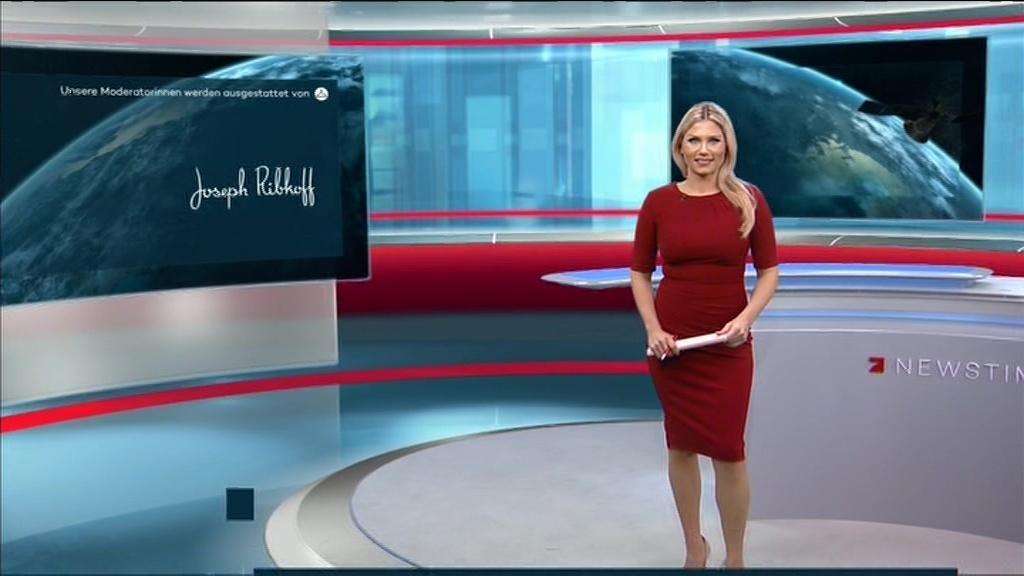 Newstime moderatorin leslie pro7 ProSieben Moderator