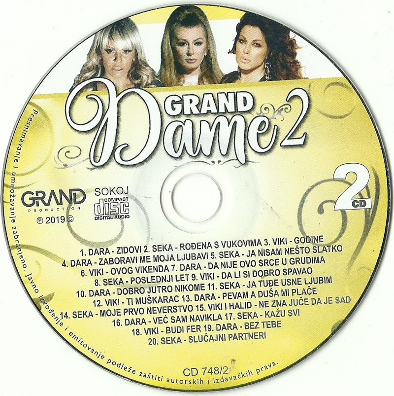 2019 - Grand Dame 2 2019 - Dara, Viki, Seka 3CD 37586878rw