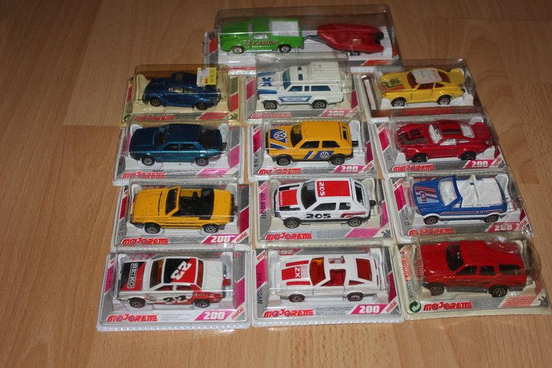 LKW ..verschiedene Modelle der Serie 200 von Majorette 80er Jahre