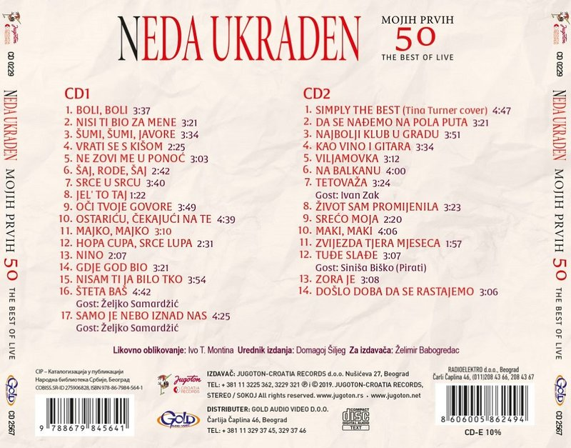 Neda Ukraden - 2019 - The Best Of Live (31 najveci hit) 37830282us