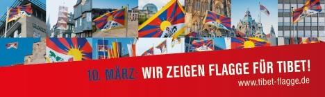 Flagge f Tibet