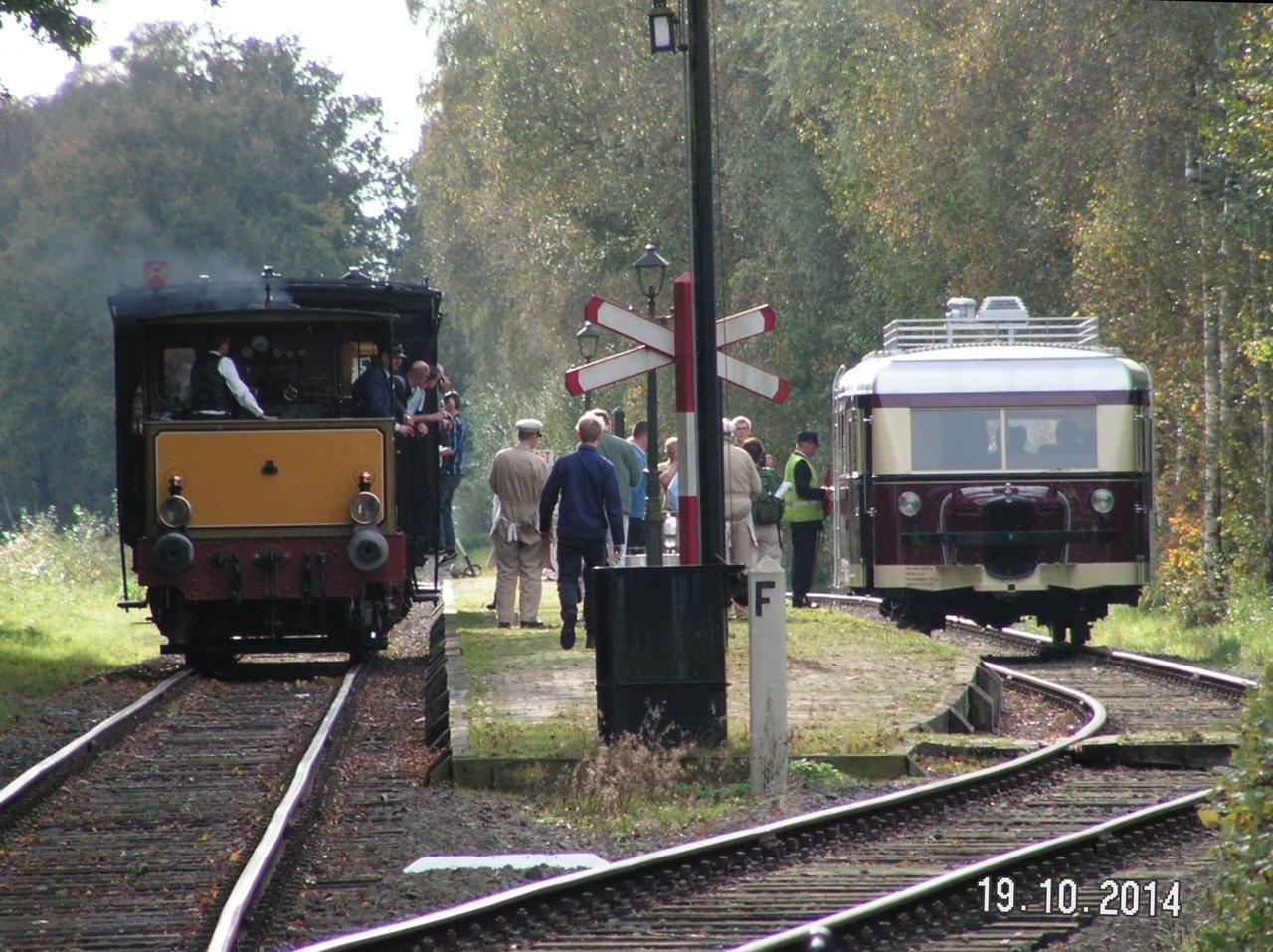 Diorama Bahnhof Asendorf mit T41 in H0e / 1/87 Schmalspur 38115933ll