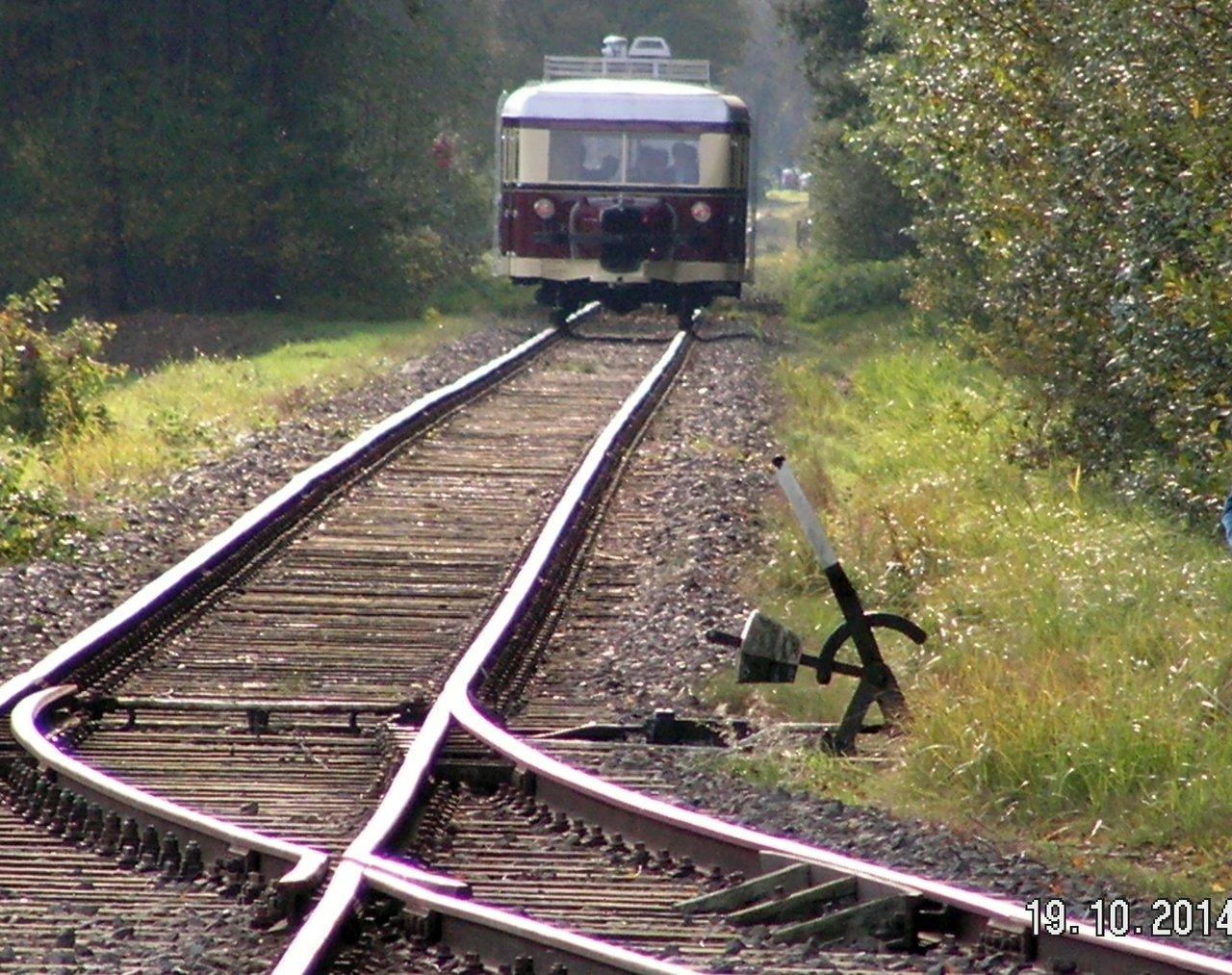 Diorama Bahnhof Asendorf mit T41 in H0e / 1/87 Schmalspur 38115940ob