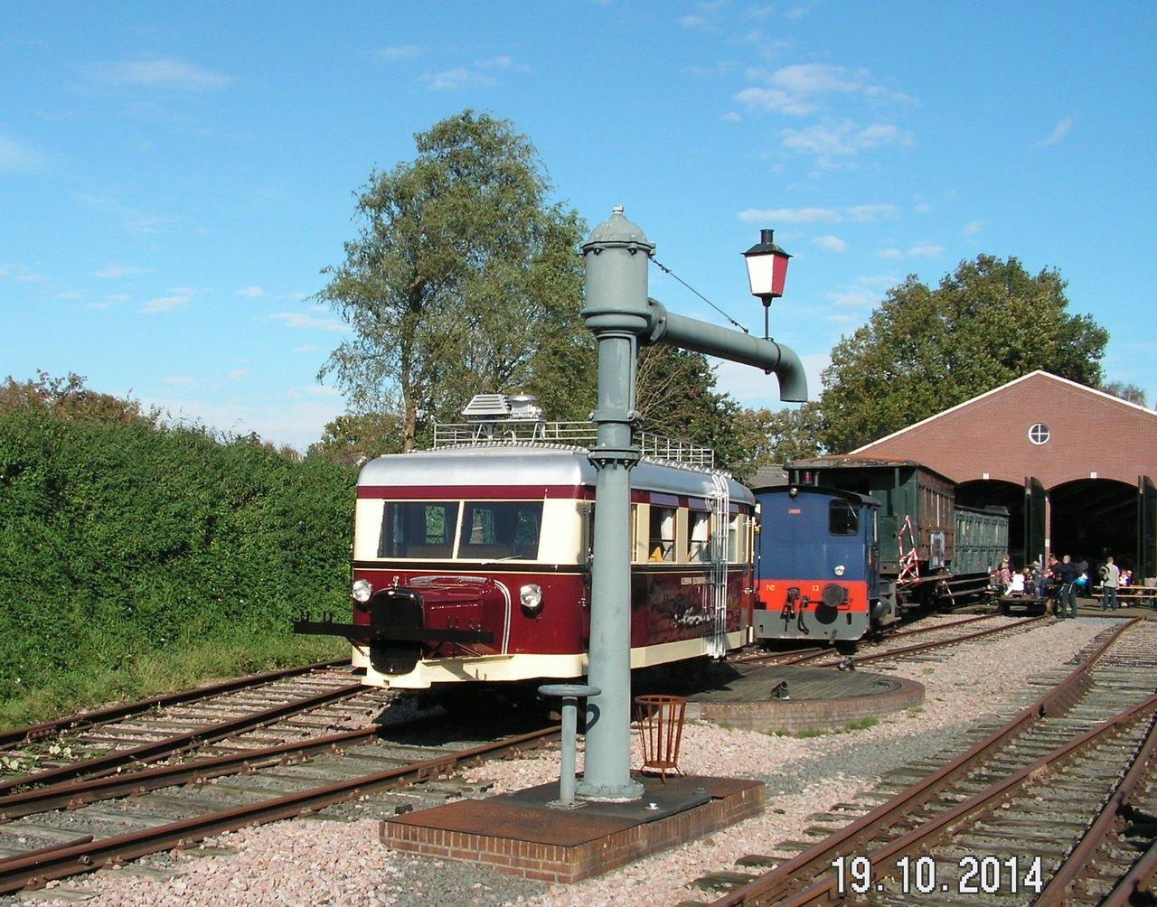 Diorama Bahnhof Asendorf mit T41 in H0e / 1/87 Schmalspur 38115947ja