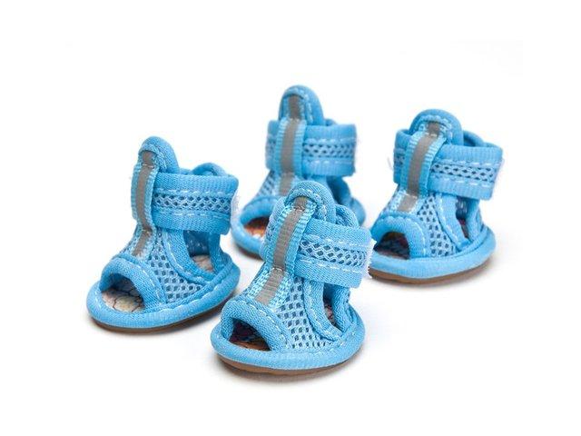 4 Sommer Sandalen Hundeschuhe Hund Schuhe Schutz Hitze Mesh