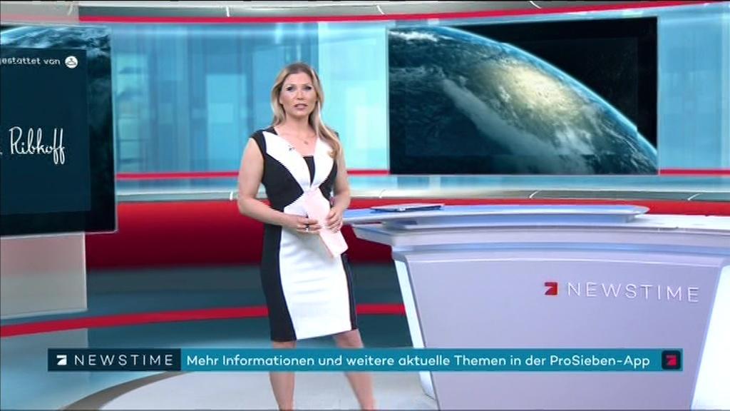 Leslie moderatorin pro7 newstime ProSieben Moderator