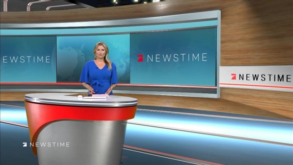 Leslie moderatorin pro7 newstime pro7 newstime